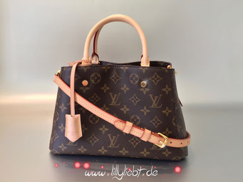 Louis Vuitton Monogram Canvas Montaigne BB (mit VVN-Lederriemen)