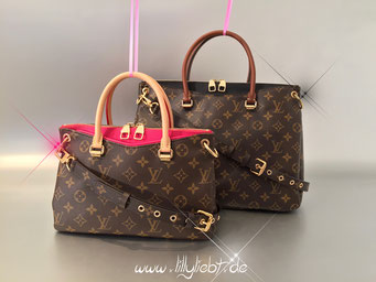 Louis Vuitton Monogram Canvas Pallas BB in Dahlia, Louis Vuitton Monogram Canvas Pallas in Schwarz
