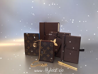 Louis Vuitton Monogram Canvas Koala Agenda PM & Mini Agenda, Louis Vuitton Agenda Ballpoint Pen in Gold