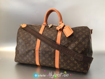Louis Vuitton Monogram Canvas Keepall Badnouliere 55 (Schulterriemen von Sac Marin)