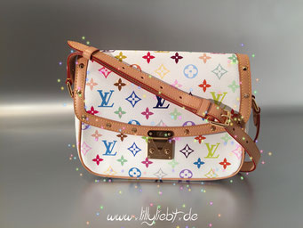 Louis Vuitton Monogram Multicolore Sologne in Weiß