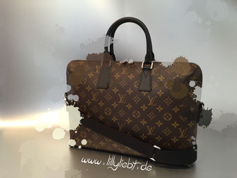 Louis Vuitton Monogram Macassar Porte Documents Jour