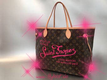 Louis Vuitton Monogram Canvas Neverfull MM (Resort Edition - Saint Tropez)