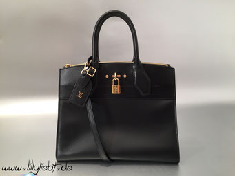 Louis Vuitton City Steamer MM in Noir