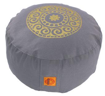 """Meditationskissen Zafu Gr.L """"Mandala"""" silbergrau"""