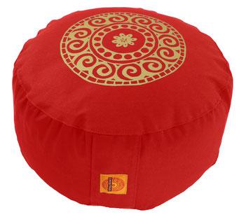 """Meditationskissen Zafu Gr.L """"Mandala"""" rot"""