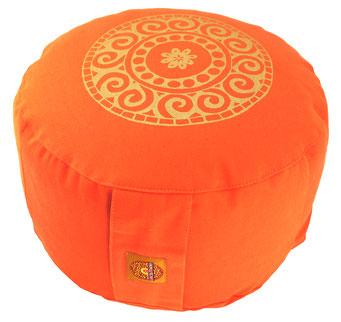 "Meditationskissen Zafu Gr.L ""Mandala"" orange"