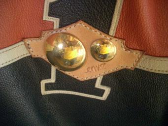 当工房の「プラネット」 モチーフで 真鍮大中で惑星を表現 ベースはハーレー形状をリファイン