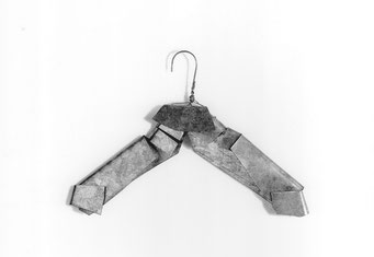 N.N., 1987, galvanized iron, 40x25 cm