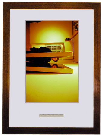A -1915/64, 1992, photographic print from photo Torreggiani, title, frame, 50x70 cm