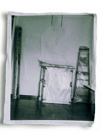 Hypotheses for an exhibition, 1988, photographic print on canvas, 40x60 cm