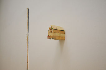 The body of images, 2009, wood, 10x8x6 cm, Neon-campobase, Bologna, photo Gianni Schicchi