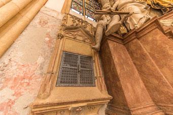 Sakramentnische mit maßwerkverzierter Kielbogenrahmung 1499