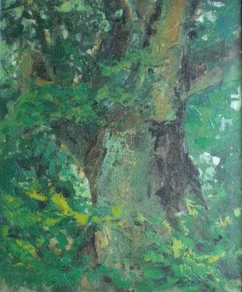 Titel: Der Baum, Maße: 60x50cm, Jahr: 1987