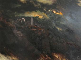 Titel: Ruinen, Maße:  120x90cm, Jahr: 2012