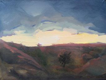 Titel: Sonnenuntergang, Maße: 80x60cm, Jahr: 1990