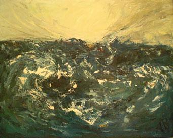 Titel: Das Meer, Maße: 100x80cm, Jahr: 2005