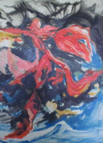 Titel: Rote Tulpe, Maße: 100x80cm, Jahr: 1999