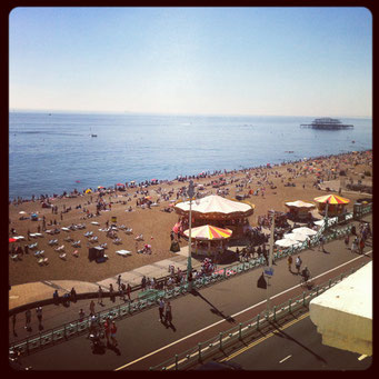 Sunny Brighton in July