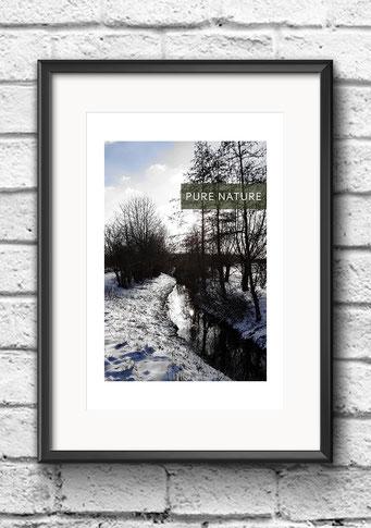 Poster Winterlandschaft Schnee