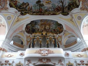 """Orgel und Fresko """"Brand der Sühnekapelle"""""""