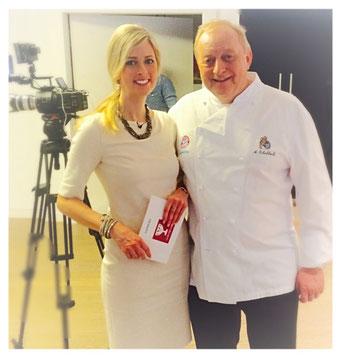 Maxi Sarwas und Alfons Schuhbeck beim Siemens Cooking Cup