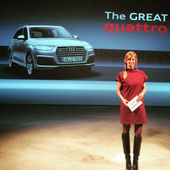 Maxi Sarwas moderiert für Audi