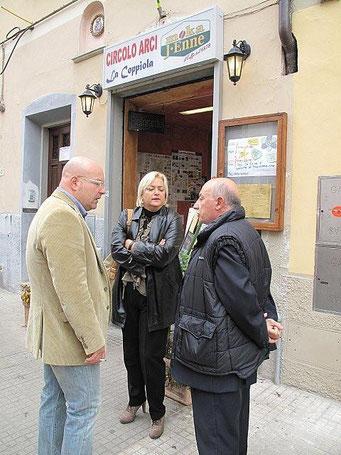 Il Segretario Nazionale Tanzi, Il Segretario Provinciale Carobbi Corso ed il Consigliere regionale Simona Pierallini