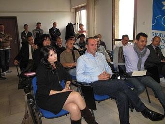 L'assemblea negli Uffici della Questura