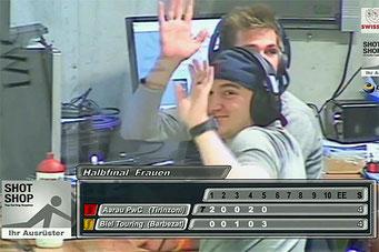 Kevin und Reto als versierte Kommentatoren [Foto: screenshot]