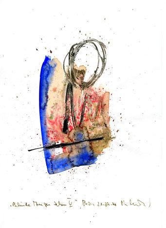 """""""Blinde Augen sehen V"""" Werkverzeichnis 3.192 / Boddin, 21.09.00 / Tusche und Aquarell auf Papier Maße jeweils b 21,0 cm * h 29,7 cm"""
