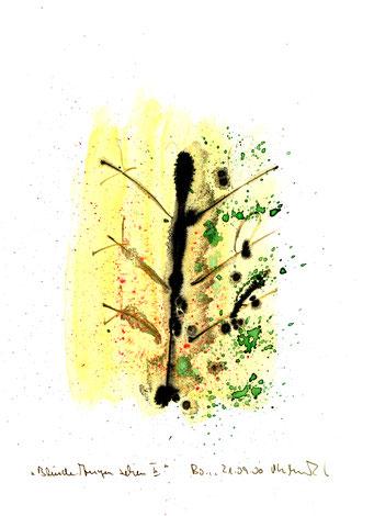 """""""Blinde Augen sehen II"""" Werkverzeichnis 3.189 / Boddin, 21.09.00 / Tusche und Aquarell auf Papier Maße jeweils b 21,0 cm * h 29,7 cm"""