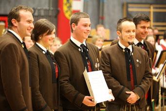 Cäciliakonzert 2016 - Andreas Oberascher erhielt das goldenen Leistungsabzeichen