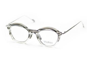 VioRou Bungo col.15001 Light gray and clear-Ruthenium  45,000円(税抜)