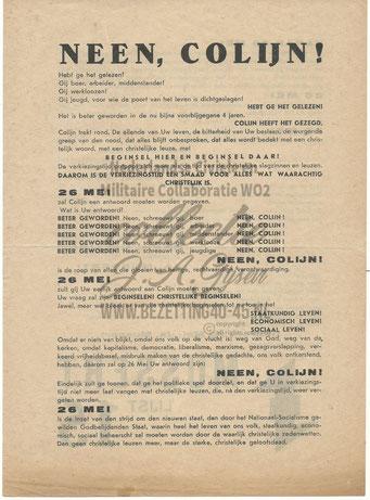 NSB Affiche: Tweede Kamerverkiezingen 26 mei 1937 4.1