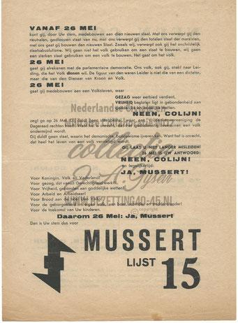 NSB Affiche: Tweede Kamerverkiezingen 26 mei 1937 4.2