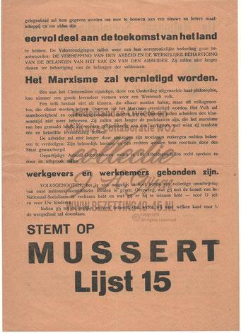 NSB Affiche: Tweede Kamerverkiezingen 26 mei 1937 7.2