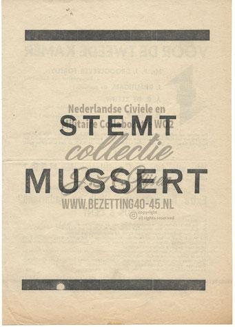 NSB Affiche: Tweede Kamerverkiezingen 26 mei 1937 2.1