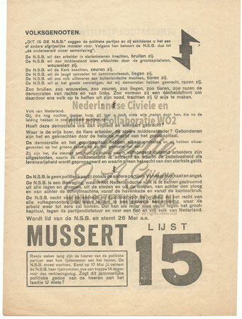 NSB Affiche: Tweede Kamerverkiezingen 26 mei 1937 3.1