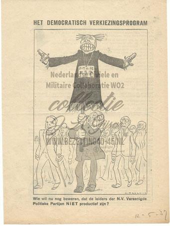NSB Affiche: Tweede Kamerverkiezingen 26 mei 1937 3.2