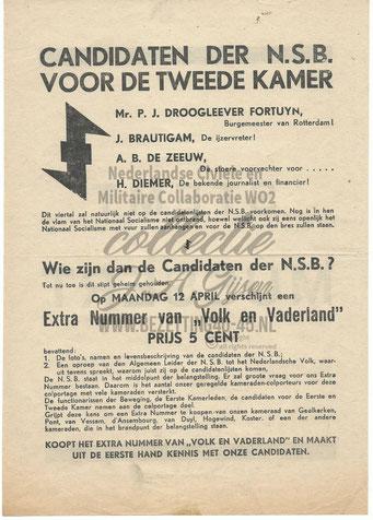 NSB Affiche: Tweede Kamerverkiezingen 26 mei 1937 2.2
