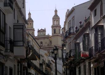 SPANIEN-ANDALUSIEN / OLVERA - Auf den Resten einer maurischen Moschee gebaute Pfarrkirche