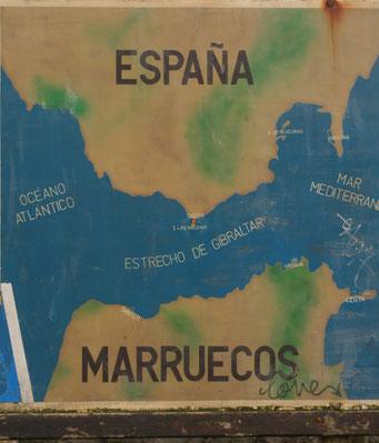 LANDKARTE BEI *TARIFA* SPANIEN