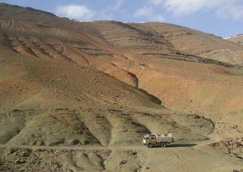 Mondlandschaft ... auf 2600 m Höhe zwischen Todhra- und Dades-Schlucht