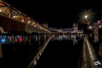 Abendstimmung an der Kapellbrücke