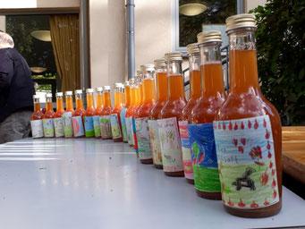 Apfelfest - unser Apfelsaft und selbst gestaltete Etiketten