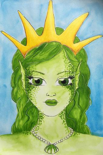 Meerjungfrau zum Thema #golden