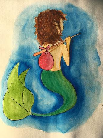 Meerjungfrau zum Thema #wanderer