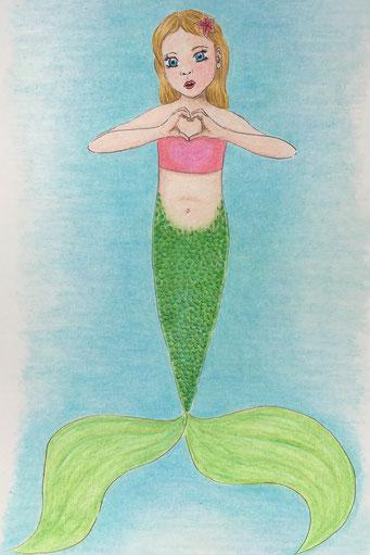 Meerjungfrau zum Thema #sweetheart - das Model hier war meine Tochter