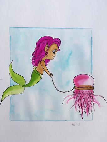 Kleine Meerjungfrau und ihr #pet